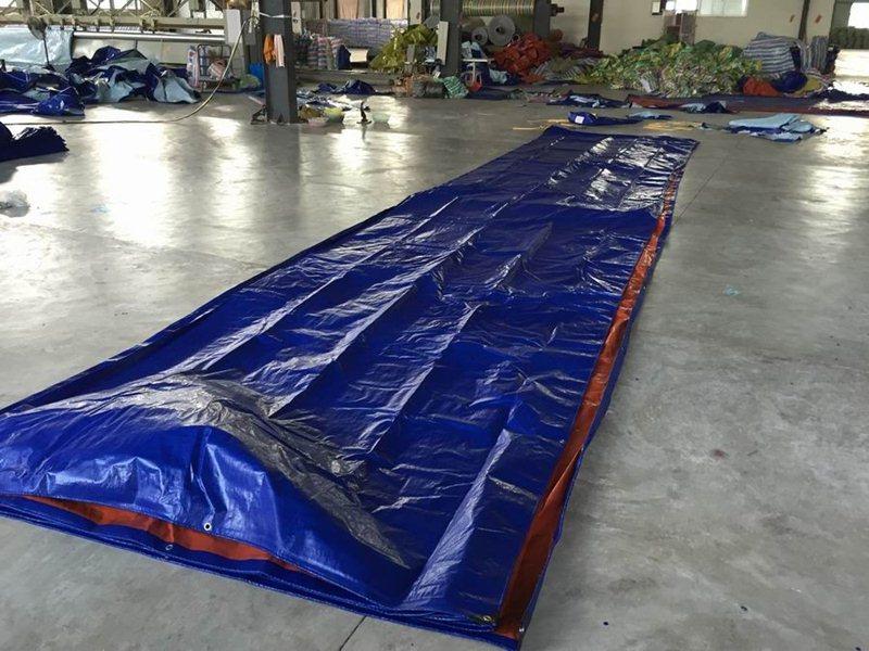 giá bán vải bạt che phủ cho công trình, bạt che phủ hàng hóa bạt xanh cam giá rẻ