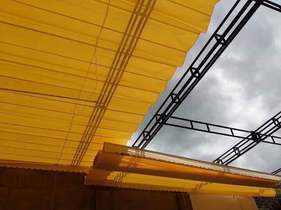 báo giá mái hiên di động, mái bạt che nắng mưa tự cuốn tại thống nhất. giá lắp đặt trọn gói mái che di động tại thống nhất