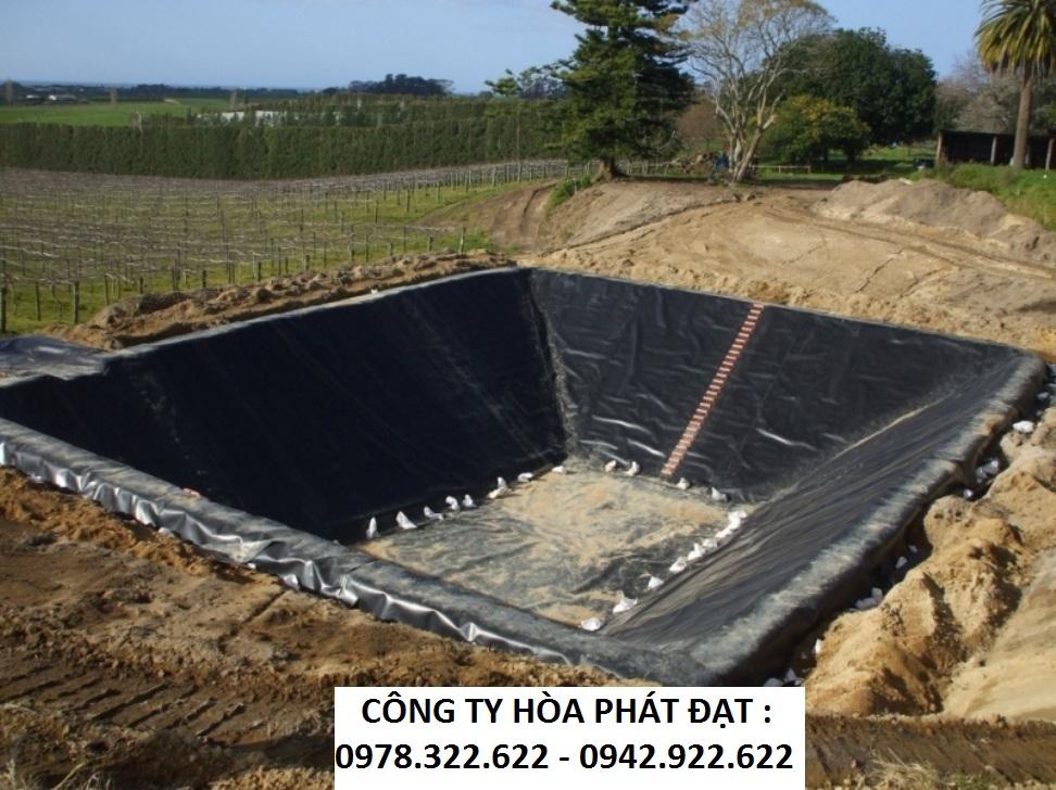 bạt lót hồ tôm ao tôm | bảng giá màng chống thấm HDPE mới nhất 2020