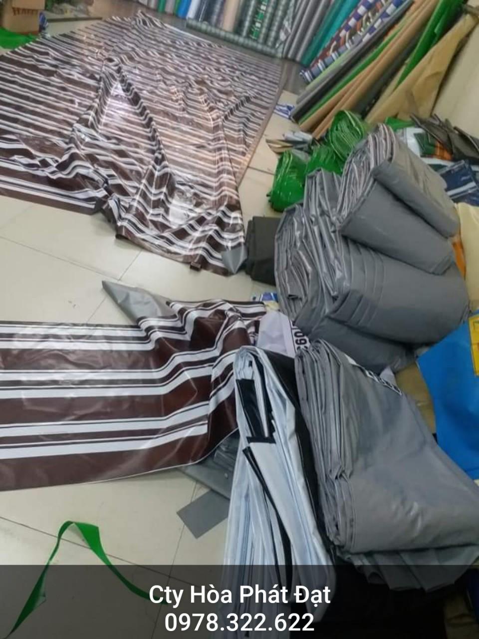 Chuyên cung cấp nhận in may ép vải bạt mái hiên mái xếp theo yêu cầu, gia công thay bạt mái che tại đồng tháp