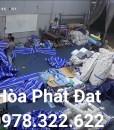 nhận gia công may ép vải bạt mái xếp giá rẻ, may ép vải bạt mái kéo lượn sóng theo yêu cầu