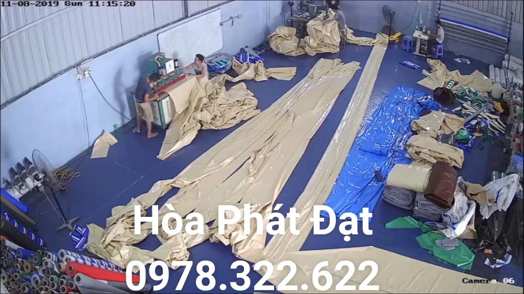 Chuyên cung cấp nhận in may ép vải bạt mái hiên mái xếp theo yêu cầu, gia công thay bạt mái che tại hòa bình