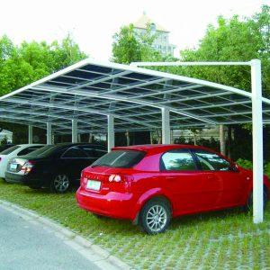 báo giá thiết kế lắp đặt mái che di động nhà xe, mái xếp bạt kéo lượn sóng nhà xe