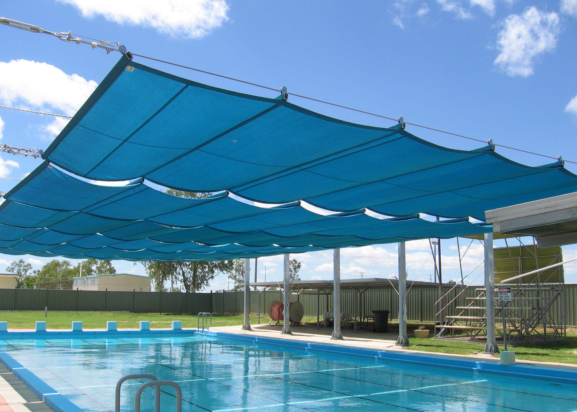 báo giá thiết kế lắp đặt mái che di động hồ bơi, mái xếp bạt kéo lượn sóng hồ bơi