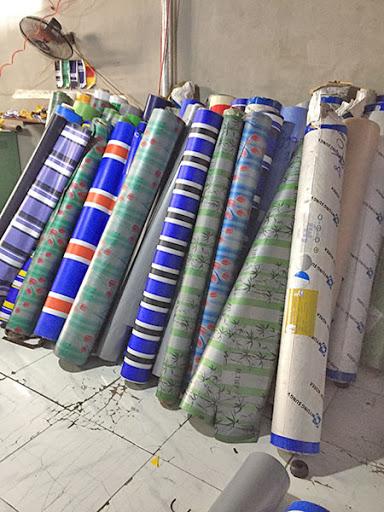 Chuyên cung cấp nhận in may ép vải bạt mái hiên mái xếp theo yêu cầu, gia công thay bạt mái che tại  bến tre