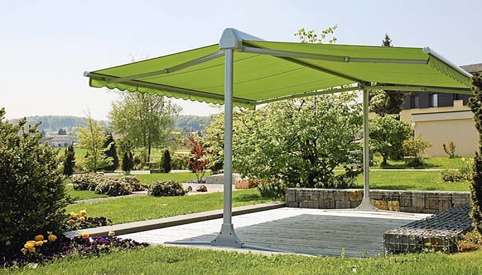 báo giá thiết kế lắp đặt mái che di động sân vườn, mái xếp bạt kéo lượn sóng sân vườn
